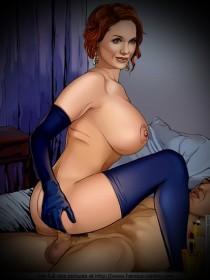 Busty Celeb Christina Hendricks : Christina Hendricks nude comics Famous Comics of Celebs