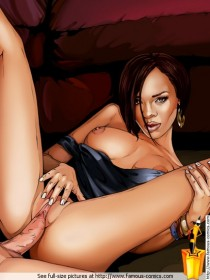 Hot celeb ass in porno : Rihanna sex comics
