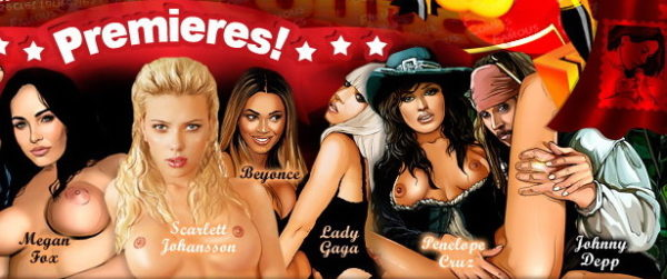 Wild celebrity hoochies : Famous Comics of Celebs